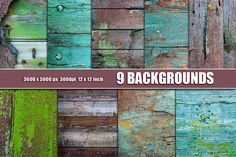 GRUNGE WOOD WALL TEXTURES by Area on Creative Market
