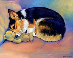 My Baby Pembroke Welsh Corgi Painting by Lyn Cook - My Baby Pembroke Welsh Corgi Fine Art Prints and Posters for Sale