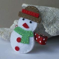Snow man hair clip
