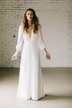 50 Beautiful Long-Sleeved Wedding Dresses: Elizabeth Dye Dunaway Wedding Dress