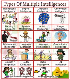 Types of Multiple Intelligence.....Know your strengths & weakness by going for DMIT analysis by brain mappers Visit www.brain-mappers.com