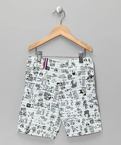 Cute little shorts with pen & ink style doodles