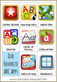 Apps for learning the alphabet and how to organize their use!