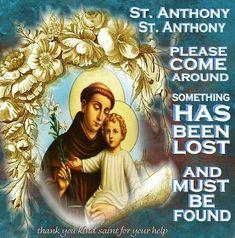 anthony of padua Novena Prayers, Catholic Prayers, Catholic Saints, Roman Catholic, Patron Saints, Power Of Prayer, My Prayer, Prayer Ideas, St Anthony Prayer Lost