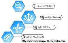 Get EDB to PST Conversion Software which fastly recovery of EDB file and safely convert EDB file to PST Outlook file with contacts, calendars, task, notes, inbox items, outbox items, journals and appointments. By taking help of EDB Mailbox Conversion Tool you can select the emails according to dates and conversion EDB file into several formats such as- EML, MSG and HTML format.  Visit Here :-http://www.edbtopstconversion.com/