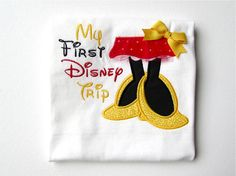 My First Disney Trip, Minnie Mouse Shirt, Disney Vacation Shirt, Disneyland Vacation, Disney World Vacation, LDM on Etsy, $23.00