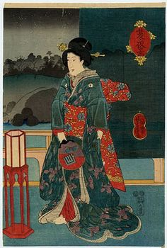 Ladies with Fan Japanese Ukiyo-e Prints. Please like http://www.facebook.com/RagDollMagazine and follow @RagDollMagBlog @priscillacita
