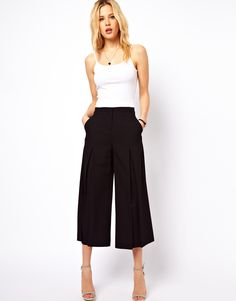 ASOS | ASOS Culottes with Pleat Front at ASOS