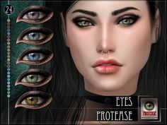 Protease Eyes by RemusSirion at TSR • Sims 4 Updates