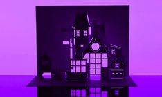 Horrorgami: The Beetlejuice House Kirigami, Ghostbusters, Beetlejuice House, Paper Pin, Saturated Color, Tim Burton, Pantone Color, Dandy, Paper Cutting
