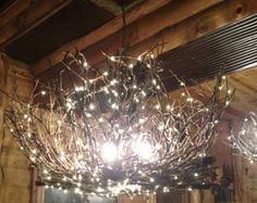 Image result for diy tree branch light fixture