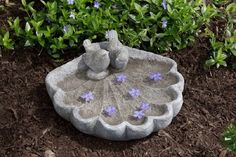 Bring the birds to your garden while enjoying a delightfully charming accent at the same time! This low bird bath sits directly on the ground (or wherever you choose!) and provides fresh water to your feathered friends.
