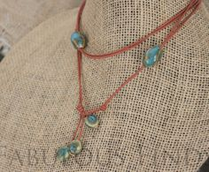 Turquoise Stone and Tan Leather Versatile by loveFabulousFinds, $36.00
