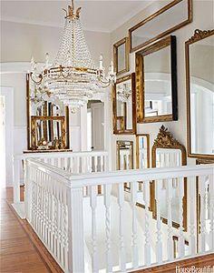 Salon-style mirrors