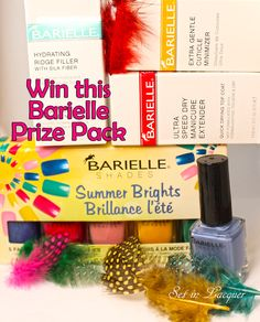 Feathered nail art using Barielle and a giveaway - Set in Lacquer