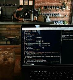 Writing Ruby coding exercises while waiting on the next meeting for the day at a great coffee shop Computer Programming, Computer Science, Computer Setup, Workspace Desk, Study Inspiration, Trendy Wallpaper, Studyblr, Study Motivation, Study Tips