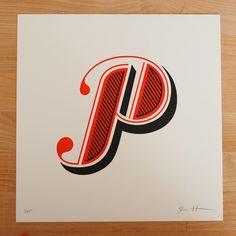 Jessica Hische. Letterpress on Lettra. Selection from the first six alphabets of the Daily Drop Cap project.
