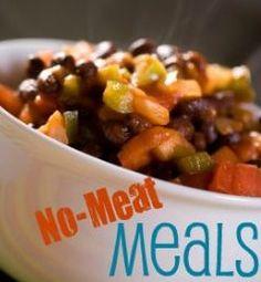A week's worth of meatless meal ideas | via @SparkPeople  #food #recipe #plan #vegetarian