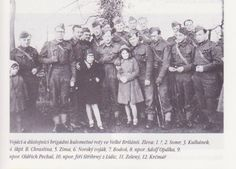 Oldřich Pechal in England. On his left is Adolf Opálka, and in front is Josef Střibrny, of Lidice.