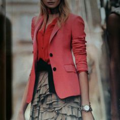 Go for a statement blazer that will suit at least one dress and one top and jean combo.