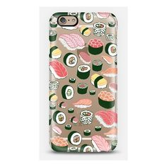 iPhone 6 Plus/6/5/5s/5c Case - Sushi Fun! ($40) ❤ liked on Polyvore featuring accessories and tech accessories