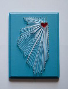 Chicago String Art I Heart Chicago by SelerdorDesigns on Etsy, $40.00