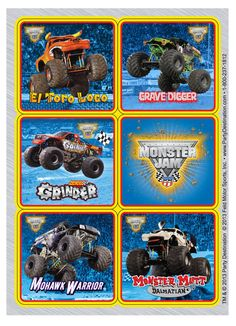Monster Jam 3D Sticker Sheets from BirthdayExpress.com