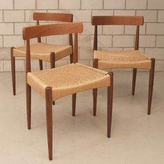 DANISH TEAK DINING CHAIRS BY ARNE HOVMAND-OLSEN Teak Dining Chairs, Vikings, Olsen, Danish, Furniture, Vintage, Home Decor, Products, Simple Birthday Decorations