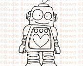 Digital stamp -- Lovely Robot