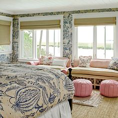 LOVE this bedroom! the colors and patterns are beautiful!