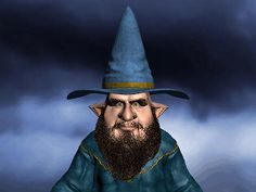 Sorcerer Guy Looking Around animated gif. #sorcerer #wizard #cartoon #animated #gif