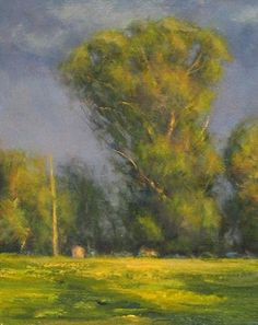 A Break in the Storm by Mark Saenger Oil ~ 12 x 9