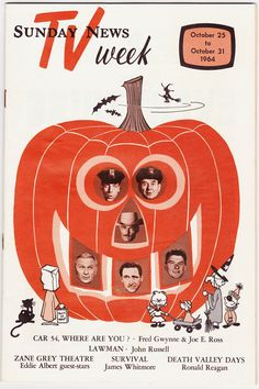 Papergreat: 1964 Halloween-themed Sunday News TV Week (plus some ads)