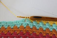 TUSINDFRYD: Sådan laver du Granny Stripes Crochet Necklace, Lost, Blanket, Crafts, Diy, Workshop, Pastel, Threading, Blankets