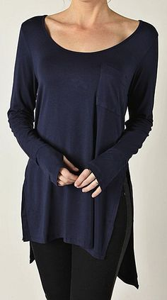 The board I pinned this from...Goth Style for Grown Ups.  Excellent!  (Navy Split Hi-Low Tee)