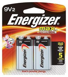Energizer 9V Alkaline General Purpose Battery - Alkaline - 9V DC - 2 pack