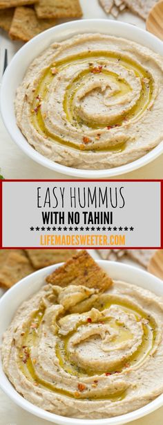 This simple Hummus is so easy to make and takes less than 10 minutes to prepare.  With only 6 ingredients and so much cheaper and better than the packaged stuff. No Tahini required.