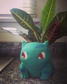 On instagram by _aleeco_ #gameboy #microhobbit (o) http://ift.tt/1O0vUmV a plant for my Bulbasaur planter :) #pokemon