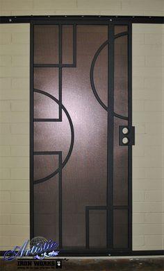 Hugo - Model: SD0211 - Wrought Iron Security Screen Door