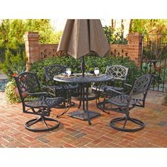 Home Styles Biscayne Cast Aluminum Black 5-piece Patio Dining Set - 14182670 - Overstock.com Shopping - Big Discounts on Home Styles Dining Sets
