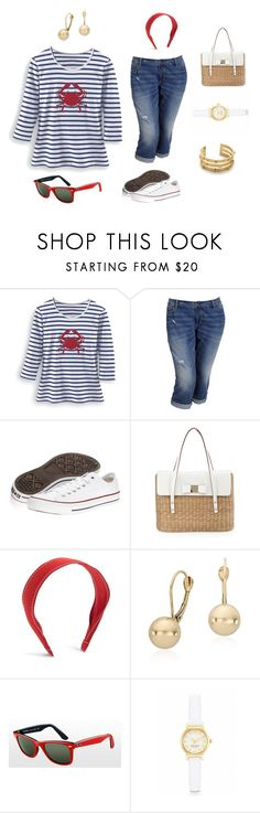 Fun afternoon in the park - Plus Size by jennifer-oreilly on Polyvore featuring moda, Old Navy, Converse, Kate Spade, Tory Burch, Blue Nile, Ray-Ban and Brooks Brothers