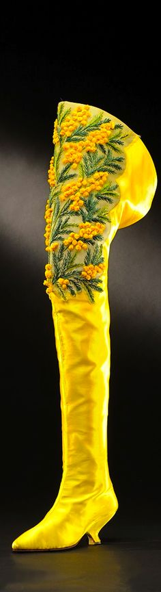 Shoes! Mimosa Thigh High Boot, by designer Roger Vivier, embroidered by Lesage