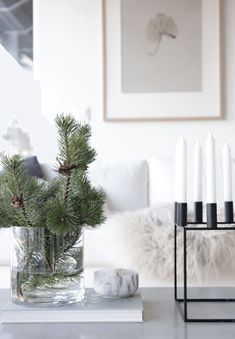 Christmas On A Budget, Noel Christmas, Simple Christmas, White Christmas, Beach Christmas, Christmas Tabletop, Scandinavian Christmas, Christmas Christmas, Scandinavian Style