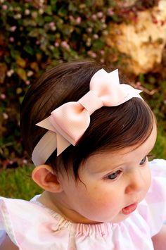 Baby Bow Set of 6 Baby headband Bowtie Bow Headband by KinleyKate, $52.00
