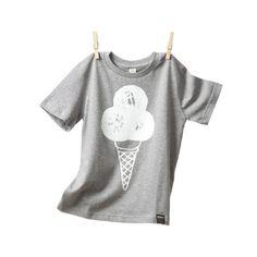 Shirt für Kleine - Eis (Grau)