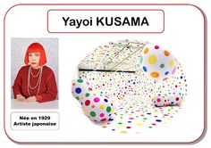 Yayoi Kusama - Portrait d& - Yayoi Kusama, Preschool Art, Craft Activities For Kids, Montessori Art, Art Mat, Ecole Art, Art Courses, Elements Of Art, Klimt