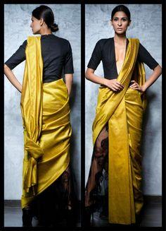Nikhil thampi saree drape