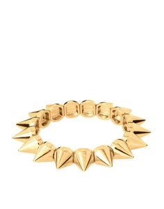 ASOS spike stretch bracelet $13.92 #fashion #accessories #bracelet #jewelry #gold #spike #style #asos #affordable #stylish #chic #bling