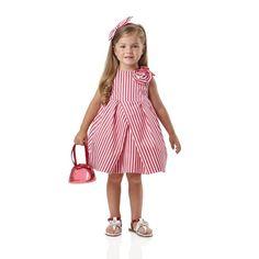 Sleeveless striped cotton dress - Dresses - Girl - Spring-Summer
