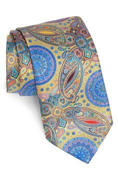 Ermenegildo Zegna 'Venticinque' Print Silk Tie.